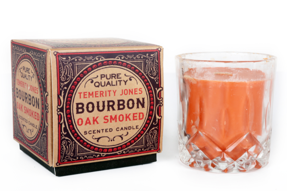 Gentlemens Club Oak Smoked Bourbon Fireside Scented Whisky Tumbler Candle-The Useful Shop