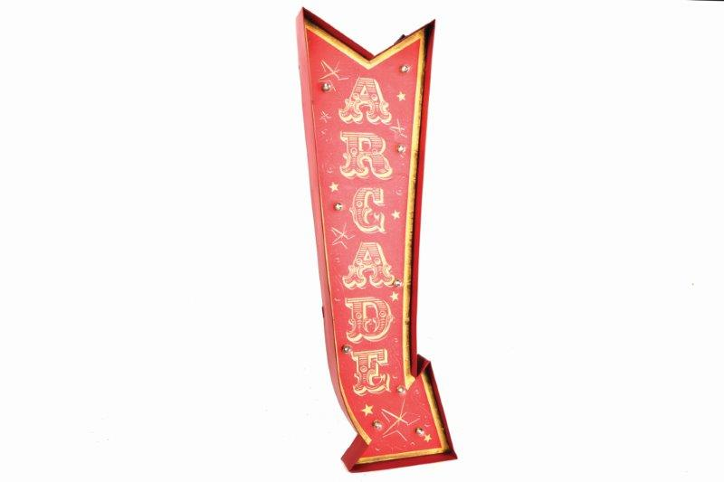 Large Arcade Arrow Metal Funfair Carnival Wall Sign Light by Temerity Jones London-The Useful Shop