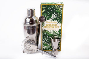 Stainless Steel Cocktail Shaker and Mixology Tools Set by Temerity Jones-The Useful Shop