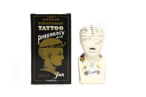 Phrenology Tattoo Ceramic Storage Head - Small Size-The Useful Shop