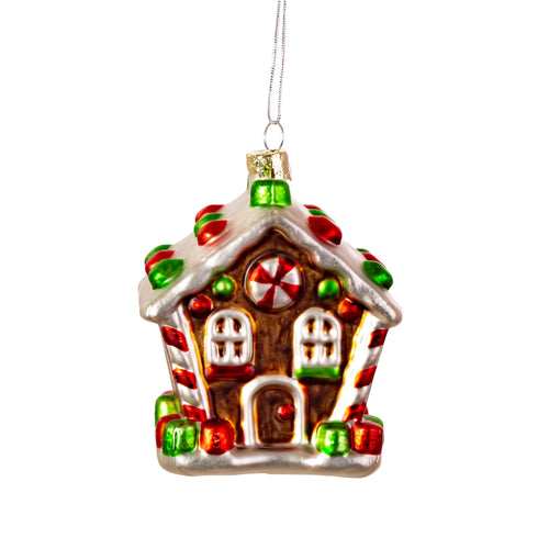 Classic Fairytale Gingerbread House Luxury Glistening Christmas Tree Bauble