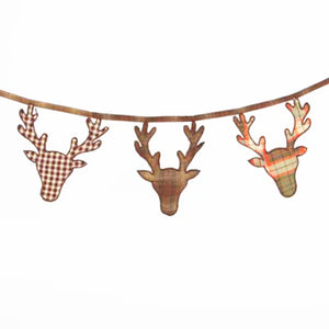 Highlands Christmas Reindeer Bunting Garland