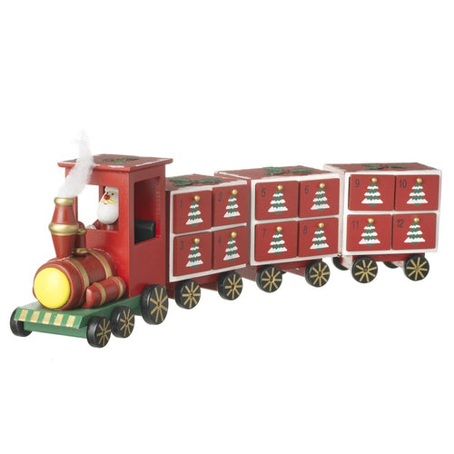 Wooden Train with Santa Driving Christmas Advent Calender by Heaven Sends
