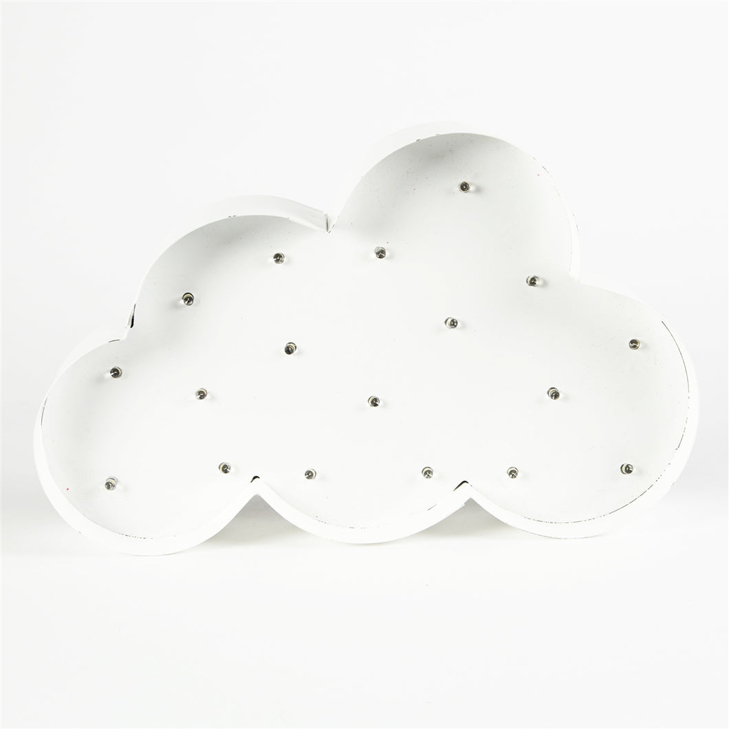 Illuminated Cloud Carnival Style LED Wall Light Battery Operated-The Useful Shop