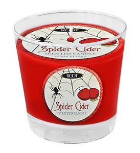 Root Candles Halloween Small Variglass Jar Candle - Spider Cider Red-The Useful Shop