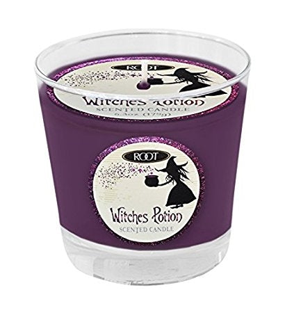 Root Candles Halloween Small Variglass Jar Candle - Witches Potion Purple-The Useful Shop