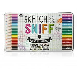 Fruit Scented Sketch and Sniff 12 Pencils Tin Set-The Useful Shop