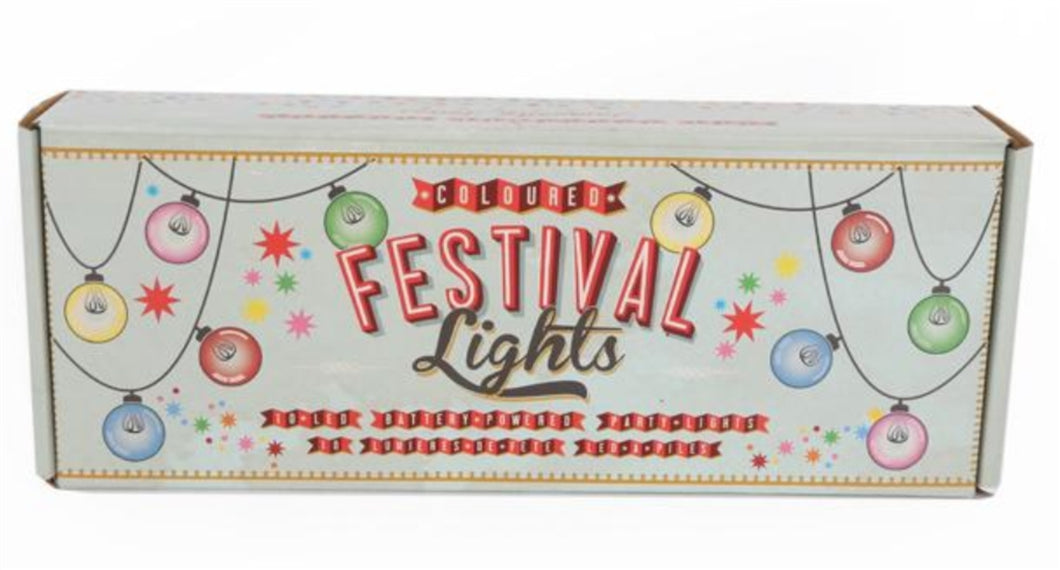 Multi Coloured Festival Battery Operated Lights Set by Temerity Jones-The Useful Shop