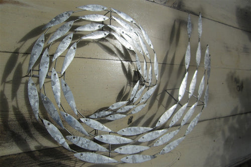 Anchovy Fish Swirl Metal Wall Art by Shoeless Joe