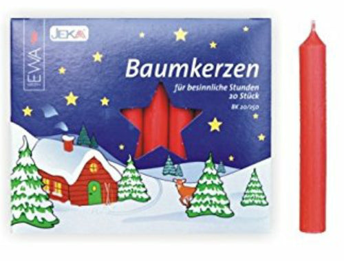 Bright Red Traditional Christmas Tree Chime Candles Baumkerzen