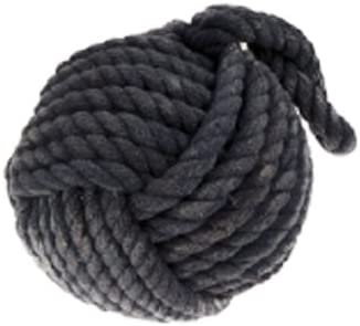Large Monkey Fist Navy Blue Nautical Rope Door Stop