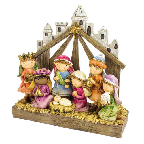 Childrens Cute Christmas Nativity Scene Display Ornament-The Useful Shop