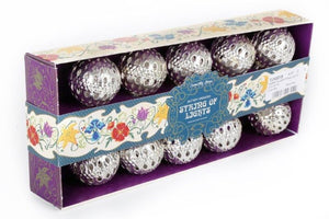 String of Battery Operated Silver Ball Kasbah Lights by Temerity Jones-The Useful Shop