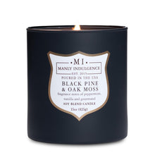 Manly Indulgence Black Pine and Oak Moss Large 15oz Jar Luxury Candle by Colonial Candle
