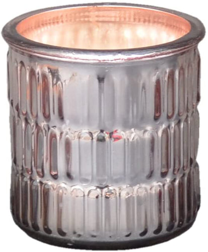 Large Metallic Embossed Rose Gold Jar Orange & Cinnamon Fragrance Candle by Candlelight