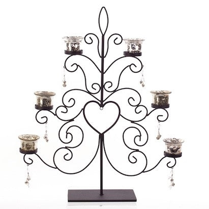Christmas Tree Metal Tea Light Display