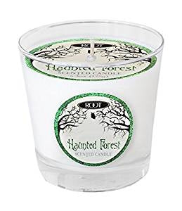Root Candles Halloween Small Variglass Jar Candle - Haunted Forest White-The Useful Shop