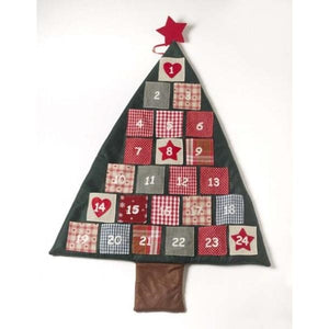 Christmas Tree Fabric Wall Hanging Advent Calendar-The Useful Shop