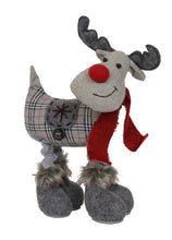 Tartan and Tweed Christmas Moose Decoration With Extending Legs-The Useful Shop