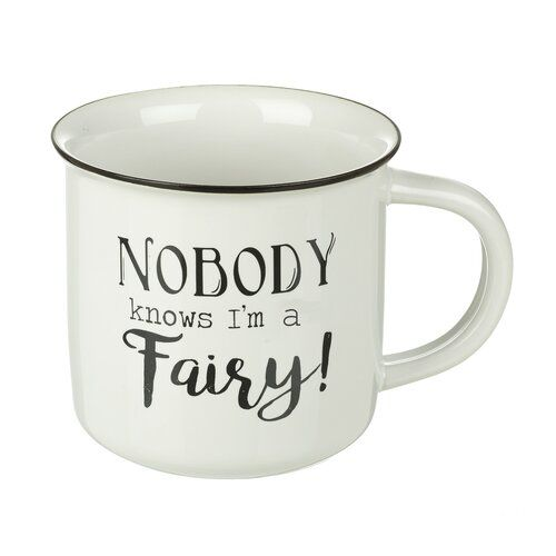 Nobody Knows I'm A Fairy Novelty Large Ceramic Mug by Heaven Sends