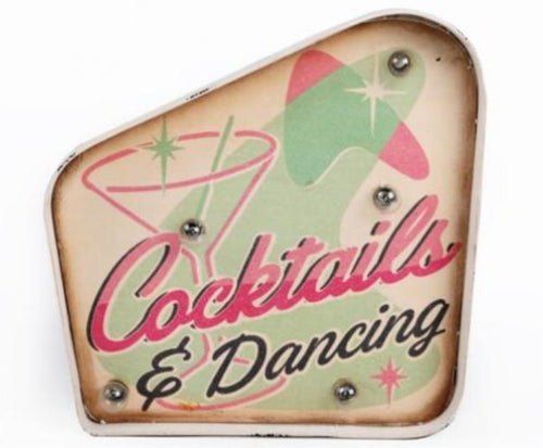 Cocktails and Dancing Party Carnival Wall Light Sign by Temerity Jones