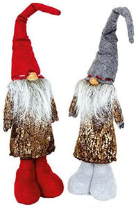 Pair of Christmas Gnomes with Extending Legs 55cm-75cm