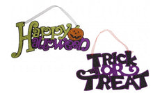 Happy Halloween Trick or Treat Signs