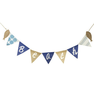 Burlap Beach Bunting Decorative Garland with Fish