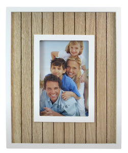 Panelled Natural Wood Picture Photo Frame
