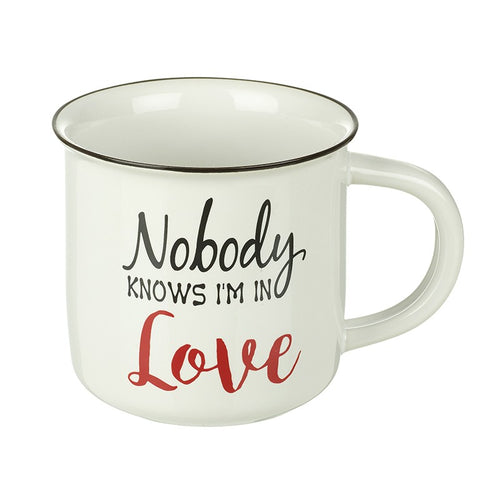 Nobody Knows I'm in Love Novelty Large Ceramic Mug by Heaven Sends