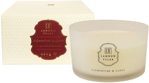 Clementine & Clove Scented 3 Wick Luxury Boxed Candle by Landon Tyler