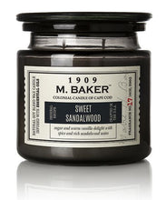 M Baker Colonial Candles of Cape Cod Large 14oz Sweet Sandalwood Apothecary Candle