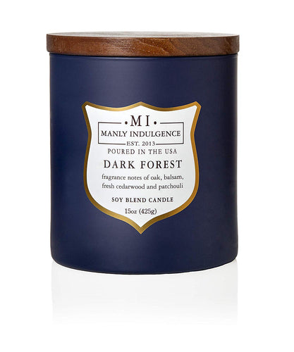 Manly Indulgence Dark Forest Large 15oz Jar Luxury Candle by Colonial Candle