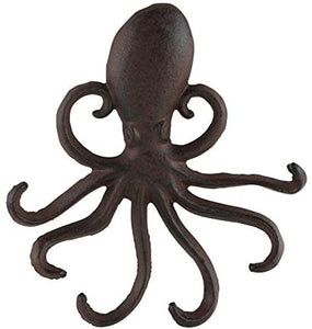 Cast Iron Large Octopus Multi Hook for Home and Garden