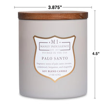 Manly Indulgence Palo Santo Taupe Large 15oz Jar Luxury Candle by Colonial Candle