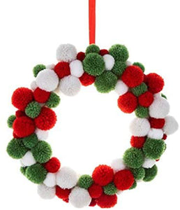 christmas pompom wreath