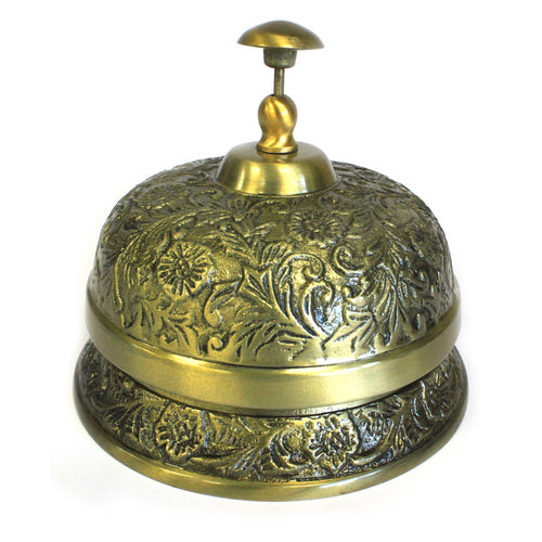 Large Luxury Hotel Style Metal Desk Bell