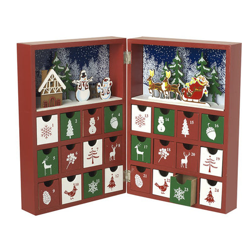 Jolly wooden advent book