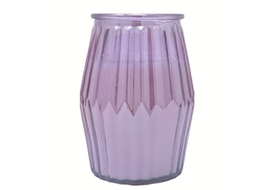 Large Lantern Style Iridescent Coloured Glass Fragranced Candle by Candlelight