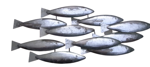 Stylish Shoal Of Fish Wall Art Metal Wall Art by Shoeless Joe