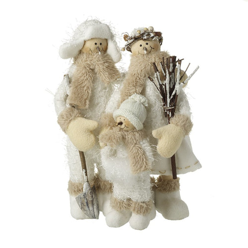 Snow Family White Christmas Display Ornament