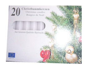 White Traditional Christmas Tree Chime Candles Baumkerzen