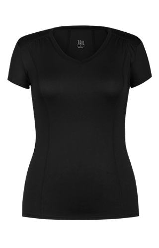 Peace Short Sleeve Top - Black