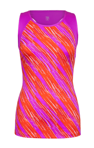 Lula Sleeveless Tank - Sunset Streak Print