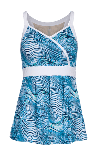 Brielle Racerback Tunic - Seascape Print