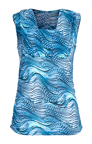 Ashtanga U-Neck Tank - Seascape Print