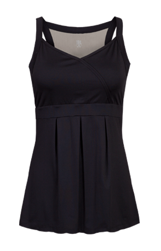 Brielle Racerback Tunic - Black