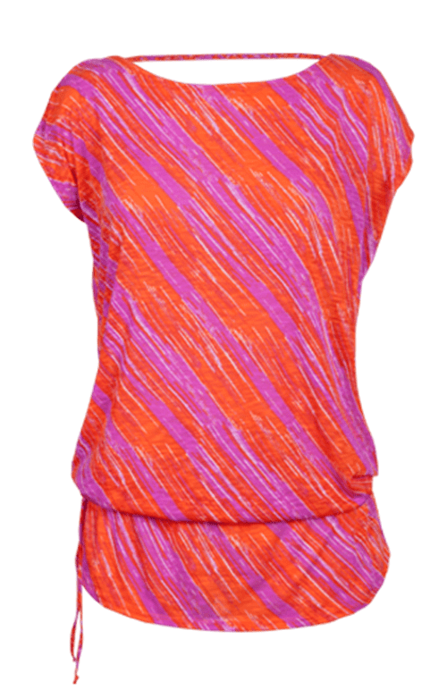 Willow Dolman Sleeve Tunic - Sunset Streak Print