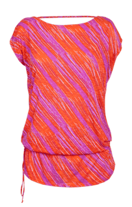 Willow Dolman Sleeve Tunic - Sunset Streak Print - FINAL SALE
