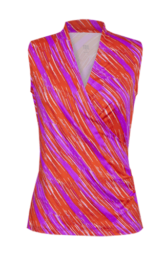Anga Wrap Top - Sunset Streak Print